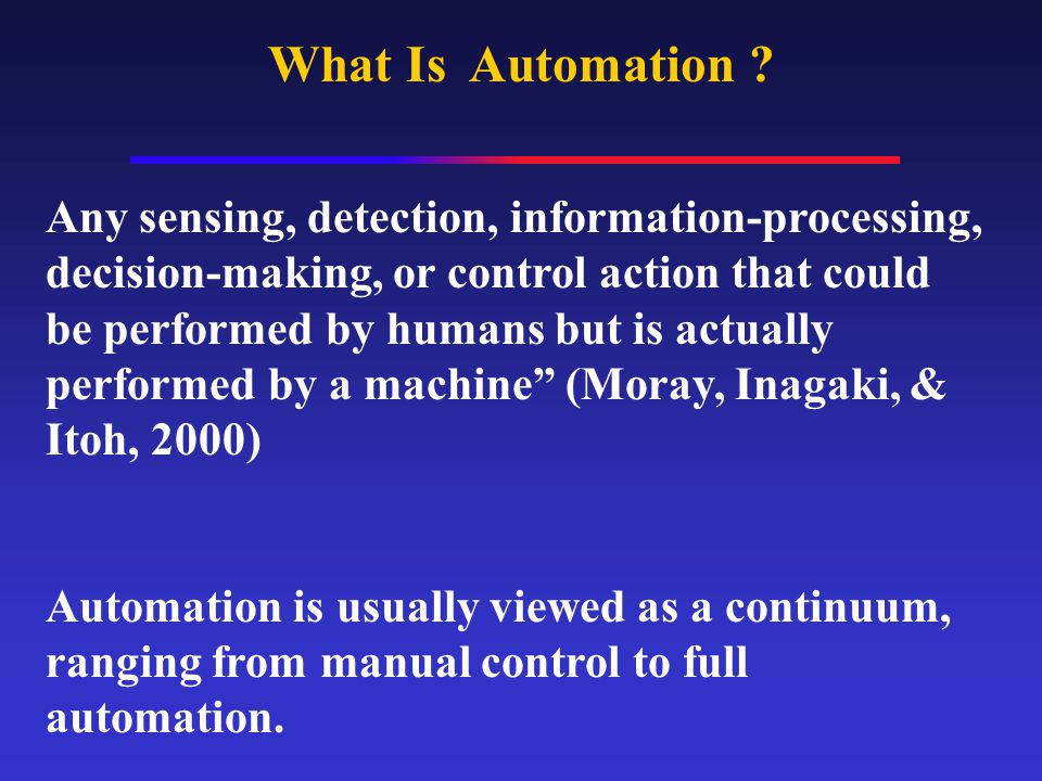 What Is Automation .