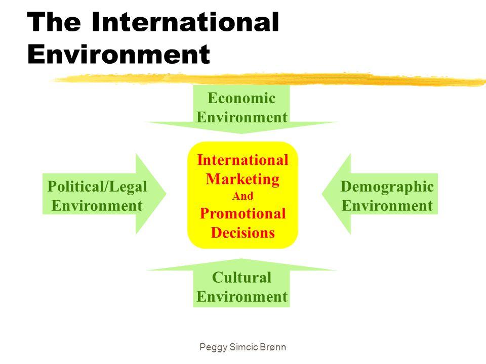 Peggy Simcic Brønn The International Environment International Marketing And Promotional Decisions Cultural Environment Economic Environment Demograph