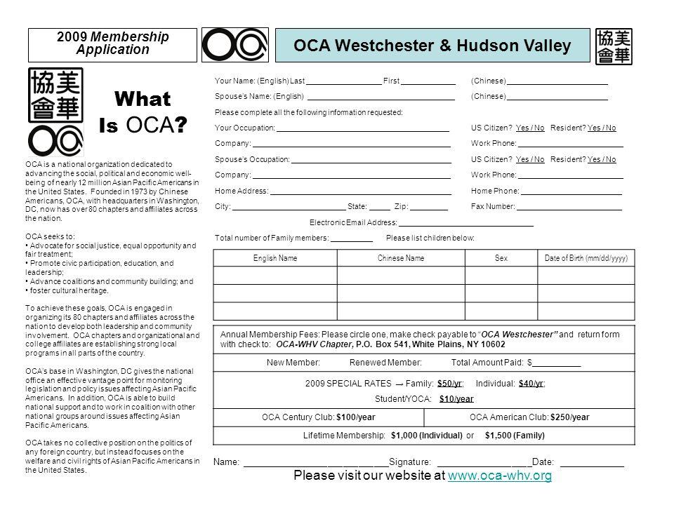 What Is OCA .