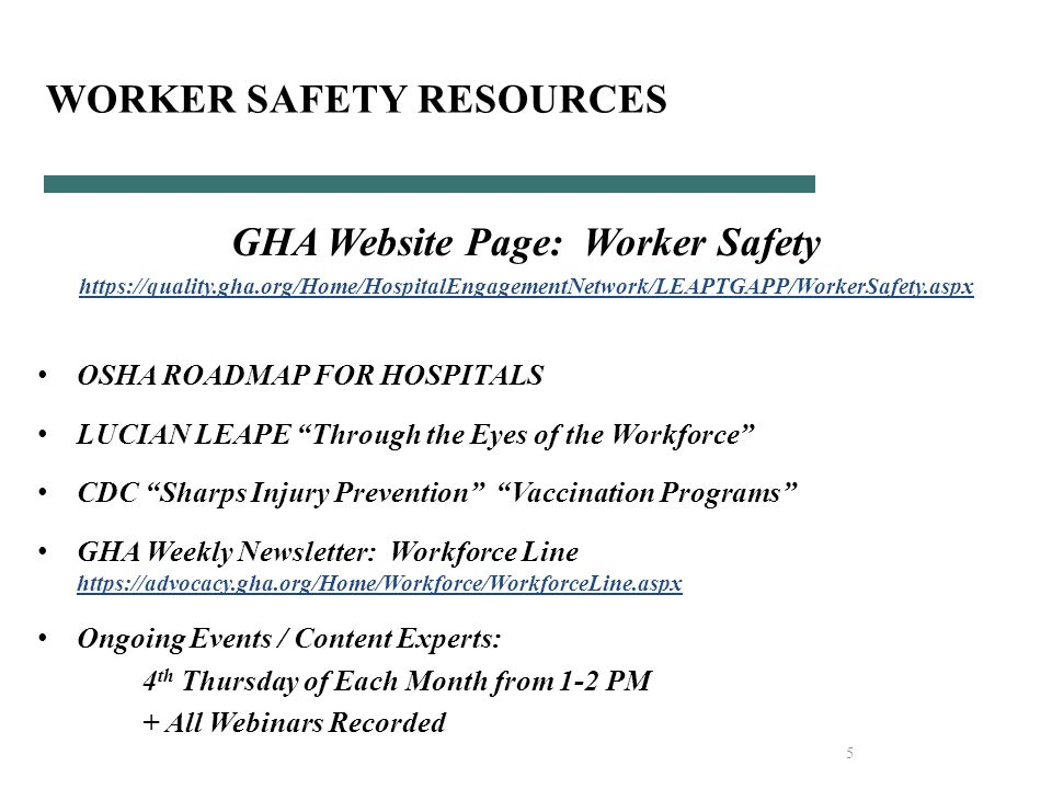 6 GHA WS RESOURCES: 2014 Recorded Webinars