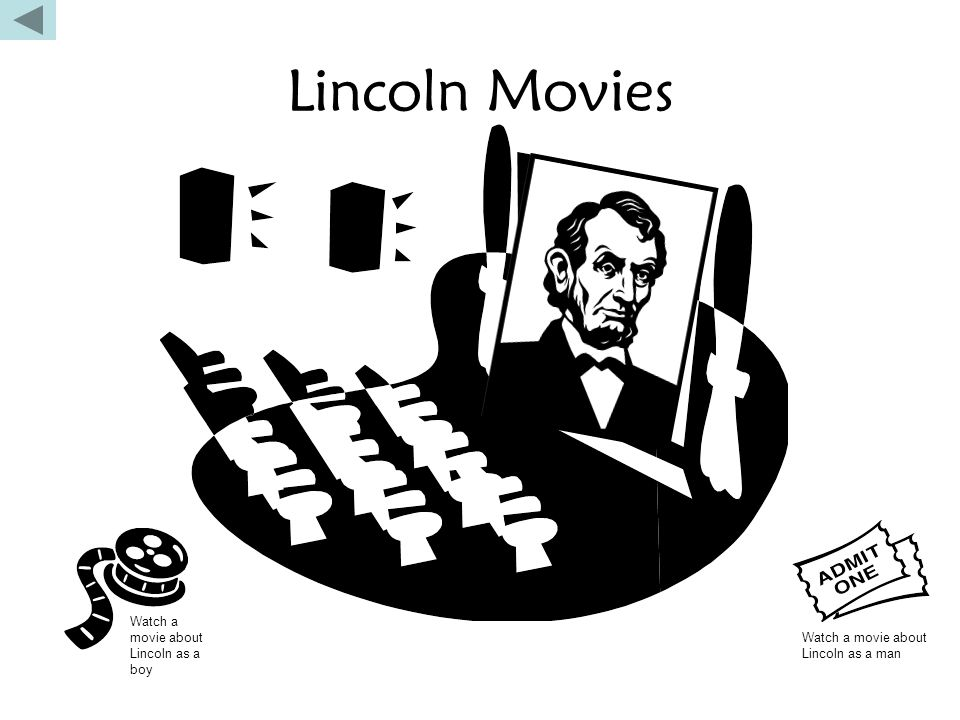 Lincoln Movies Watch a movie about Lincoln as a boy Watch a movie about Lincoln as a man