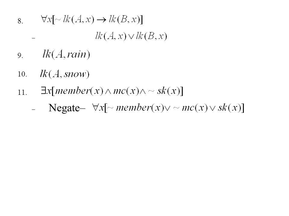 8. – 9. 10. 11. – Negate–