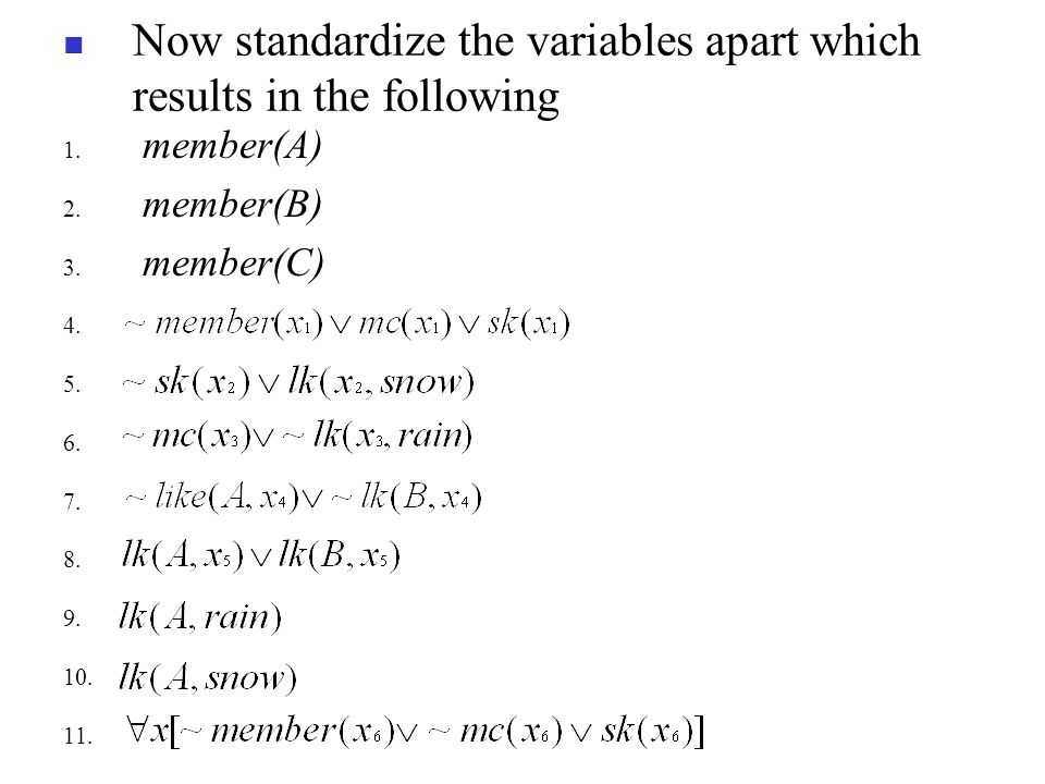 Now standardize the variables apart which results in the following 1.