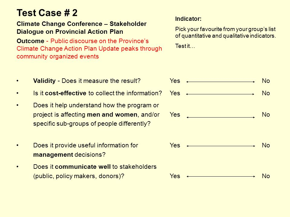 Test Case # 2 Climate Change Conference – Stakeholder Dialogue on Provincial Action Plan Outcome - Public discourse on the Province's Climate Change A