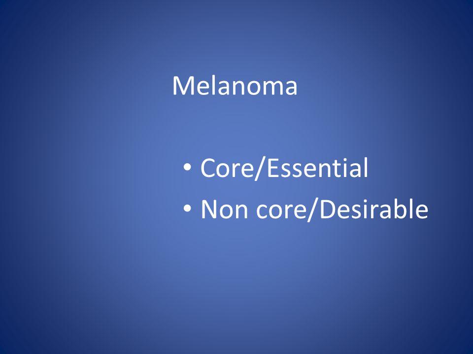 Melanoma Core/Essential Non core/Desirable