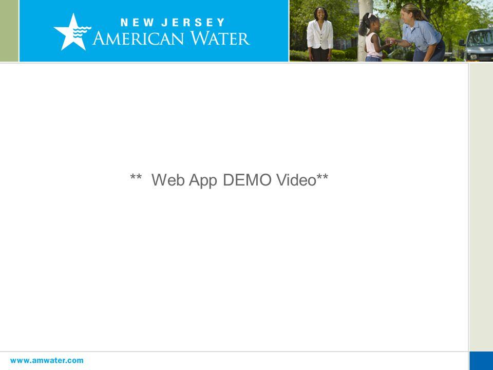 ** Web App DEMO Video**