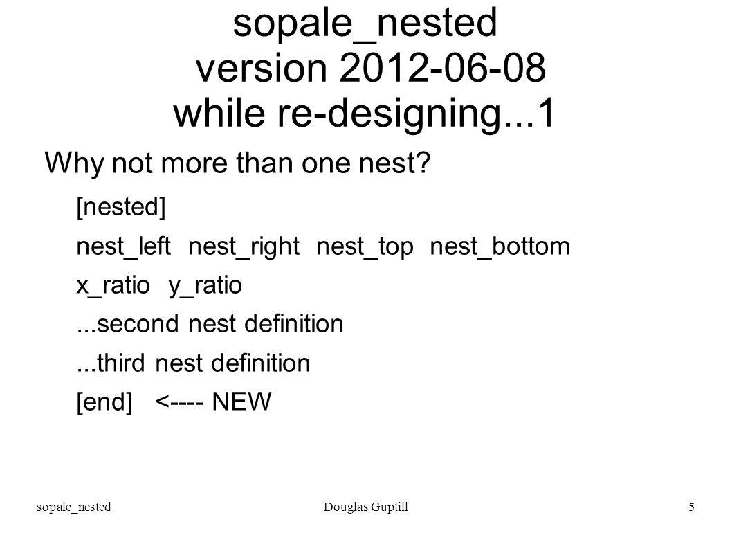 sopale_nestedDouglas Guptill5 sopale_nested version 2012-06-08 while re-designing...1 Why not more than one nest? [nested] nest_left nest_right nest_t