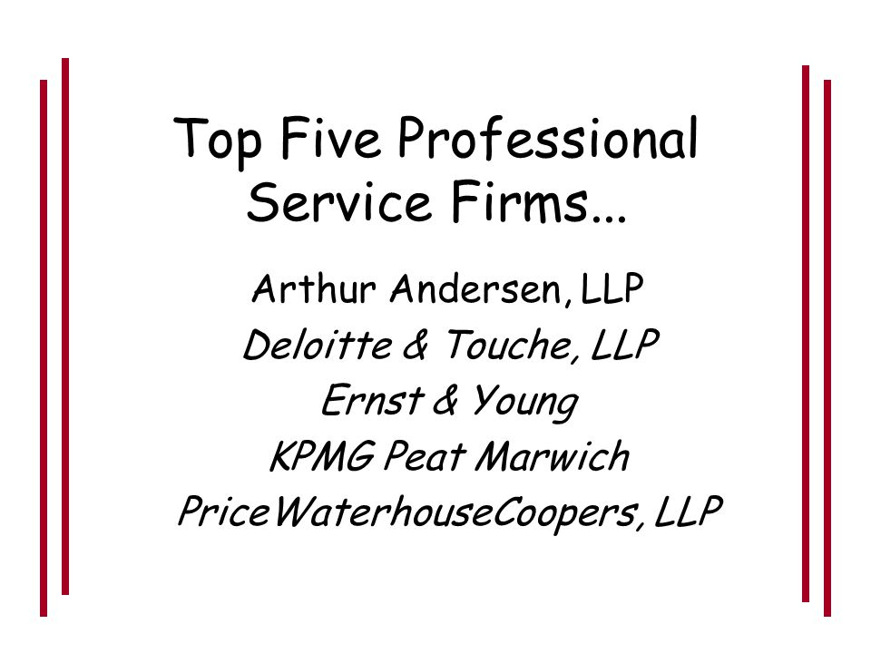 Professional Services Industry Government Who are the major employers?