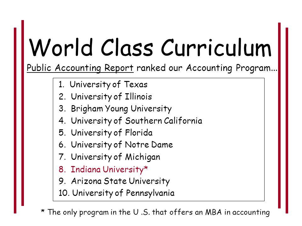 World Class Curriculum World Class Facilities World Class Faculty