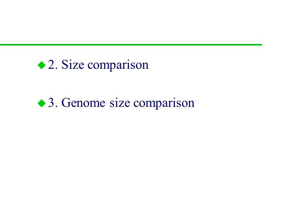 B. Comparison to bacteria 1.