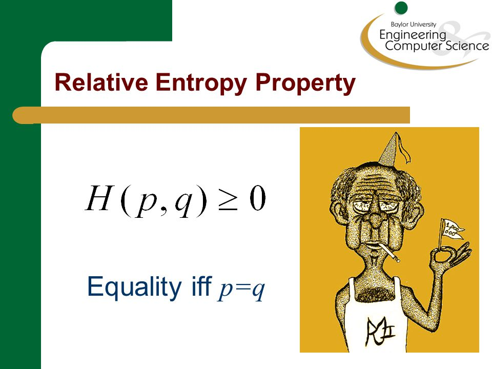 Relative Entropy Property Proof Since