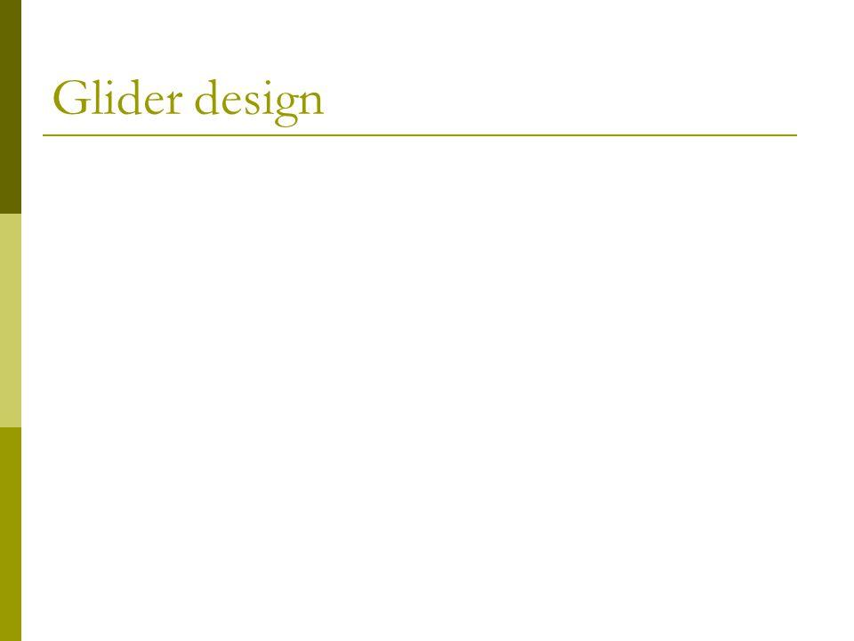Glider design