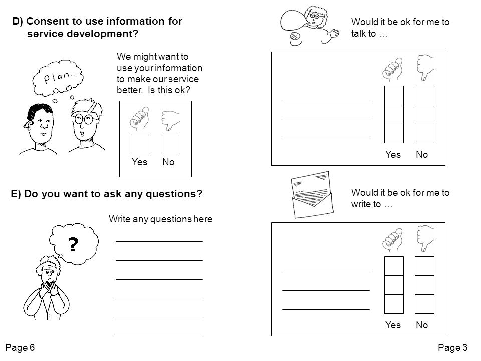 Please do not write to … Please do not talk to … Page 4Page 5 Would it be ok to use our work to help other people learn.