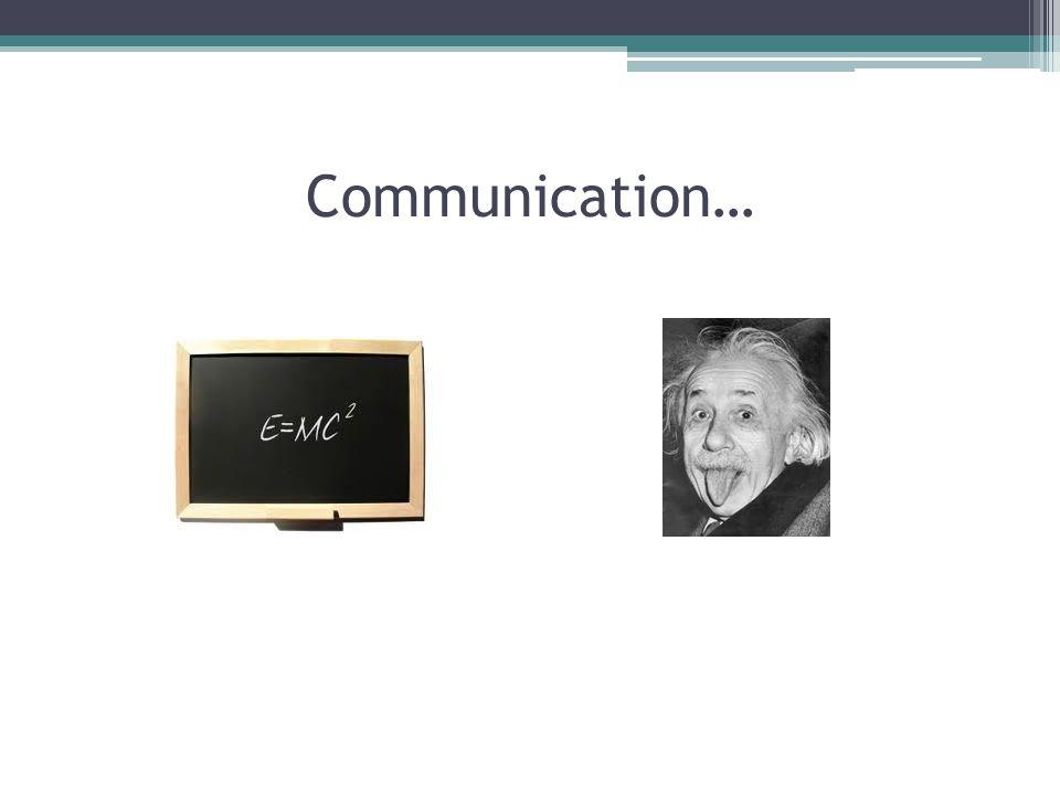 Good Communication… GC = SI