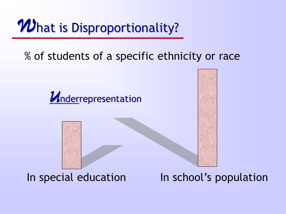 W hat is Disproportionality.