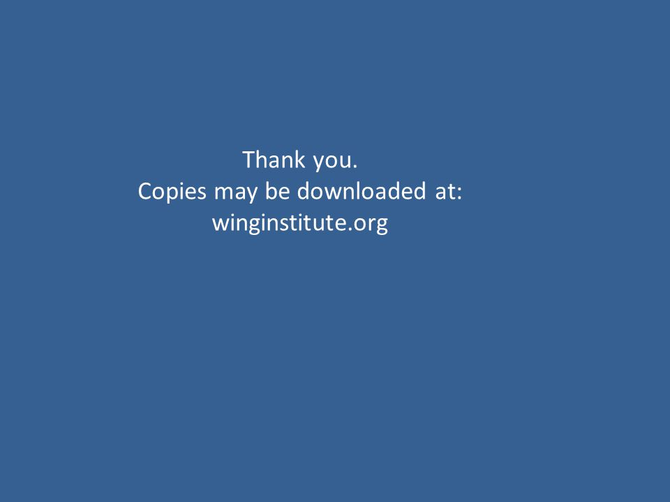 Thank you. Copies may be downloaded at: winginstitute.org