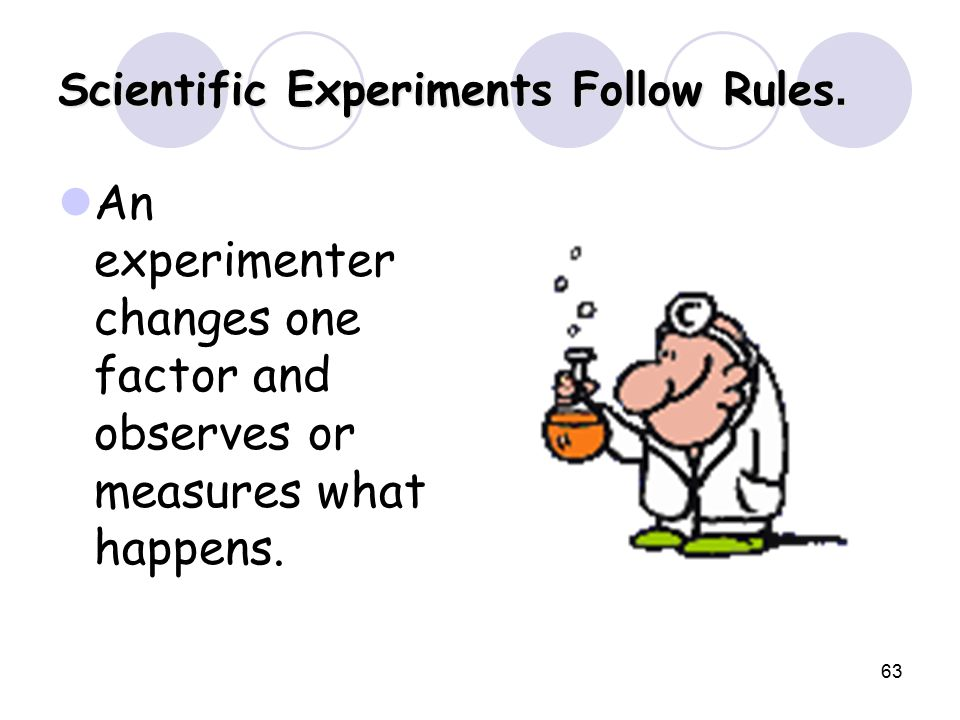 63 Scientific Experiments Follow Rules.