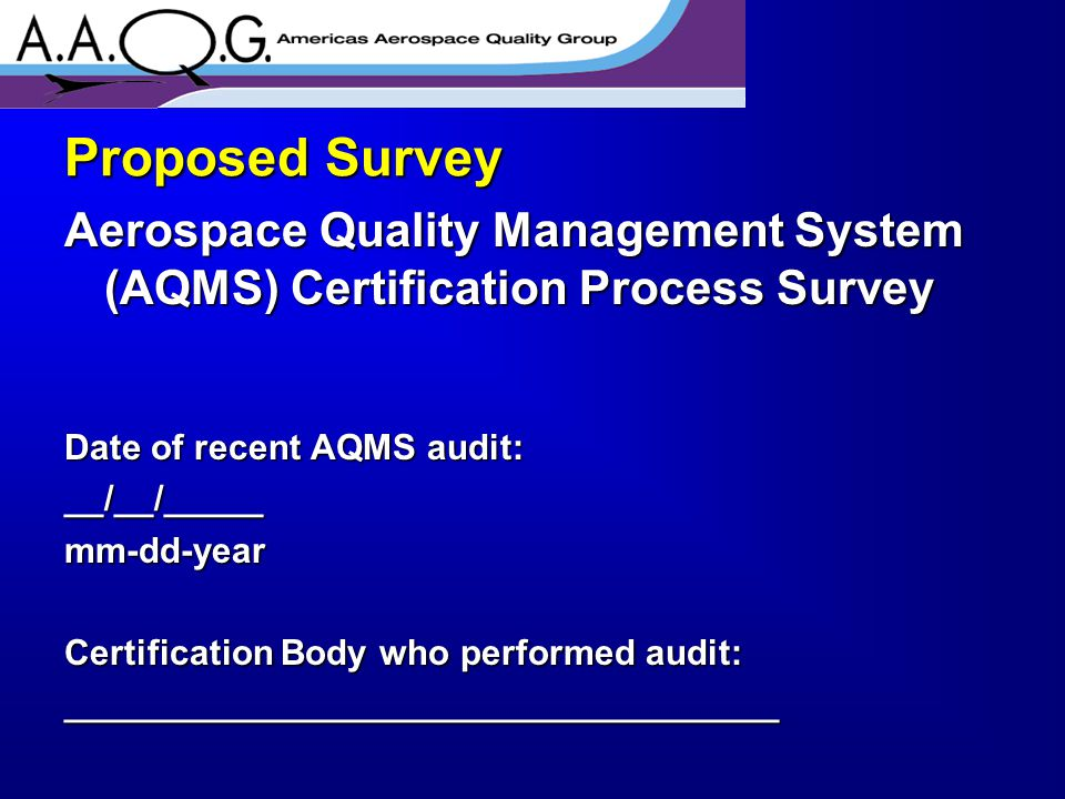 Were your expectations for the AQMS certification audit met.