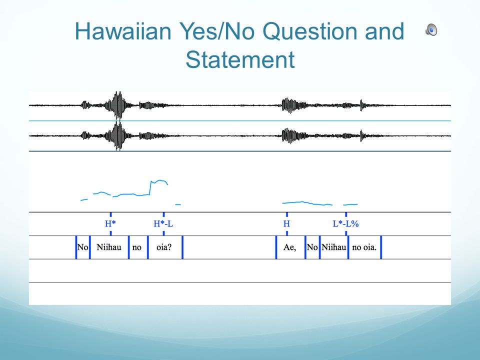 Hawaiian Yes/No Question