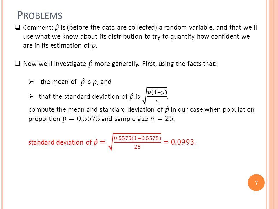 P ROBLEMS 7