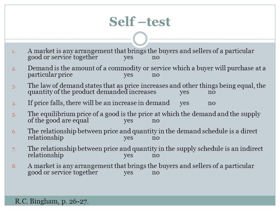 Self –test 1.