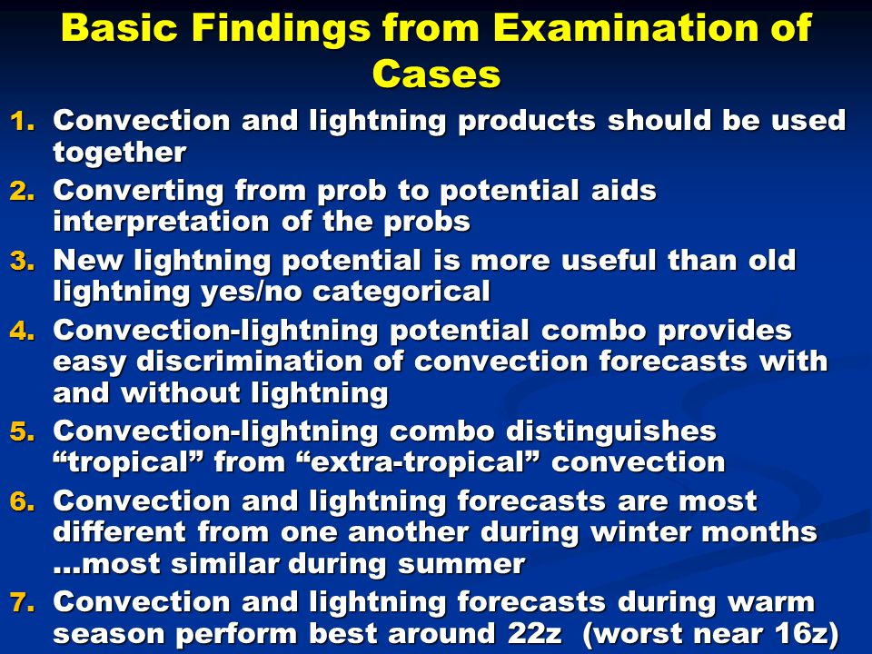 Basic Findings from Examination of Cases 1.