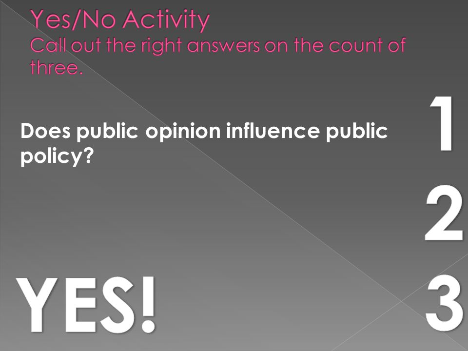 Does public opinion influence public policy