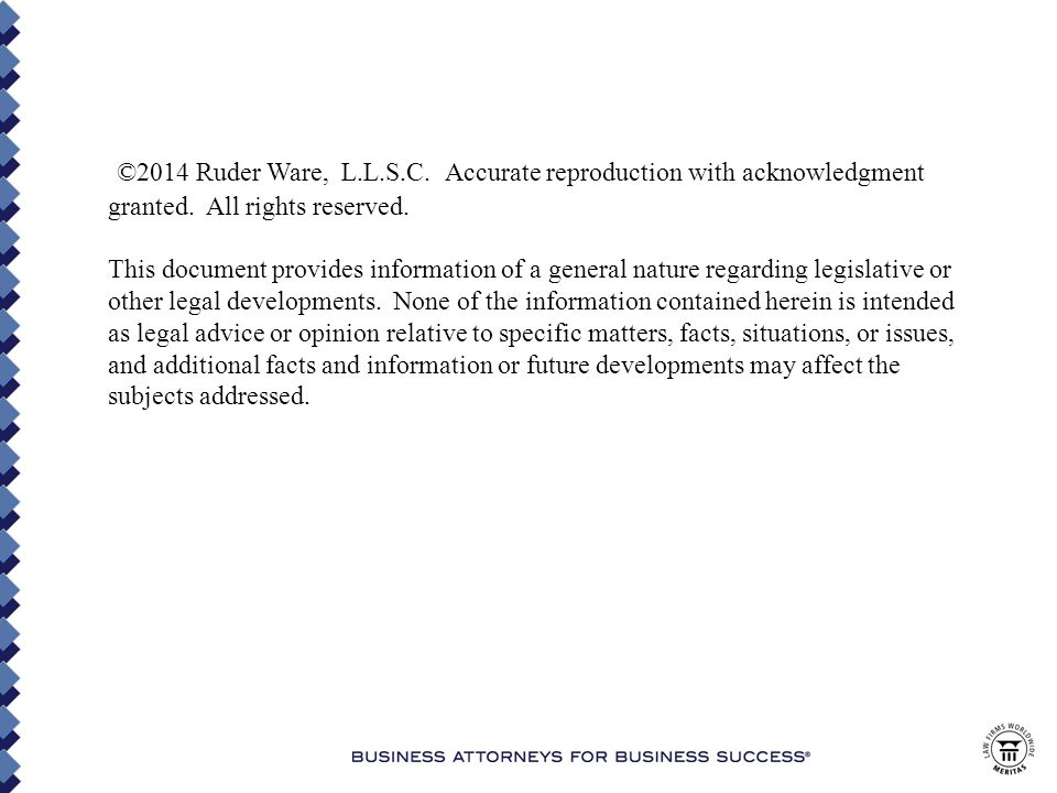 ©2014 Ruder Ware, L.L.S.C. Accurate reproduction with acknowledgment granted.