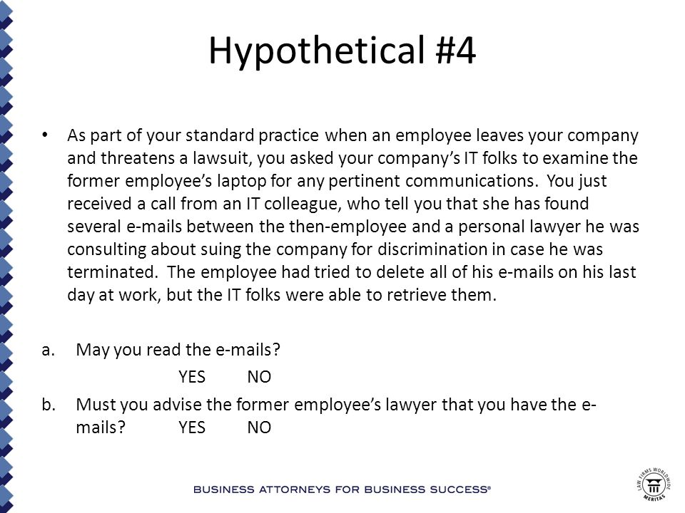 Hypothetical #14 You have read about lawyers and their representatives researching adverse parties' and witnesses' social media sites.