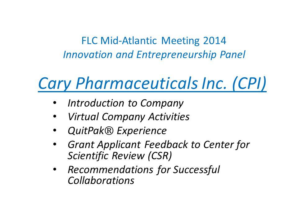 FLC Mid-Atlantic Meeting 2014 Innovation and Entrepreneurship Panel