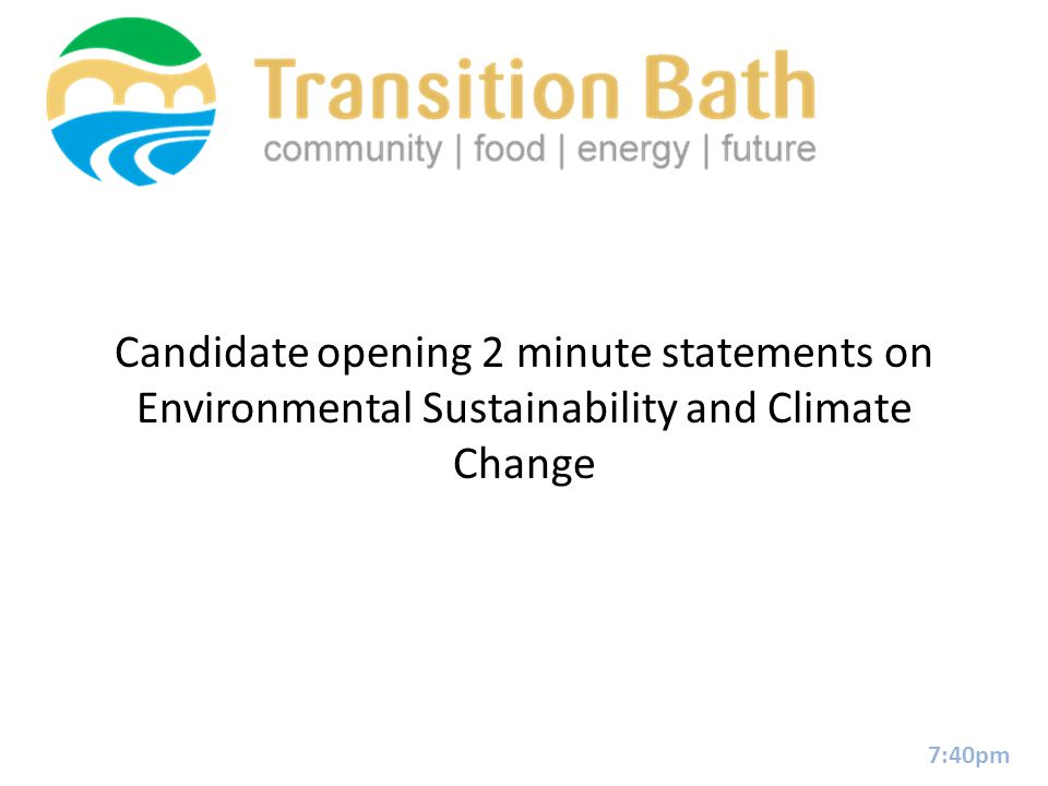 Energy: Quick fire question 12 minutes Fracking: yes or no in Bath.