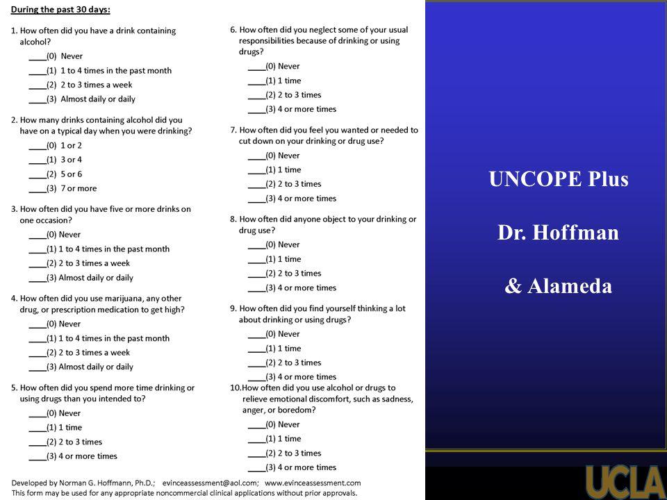 UNCOPE Plus Dr. Hoffman & Alameda