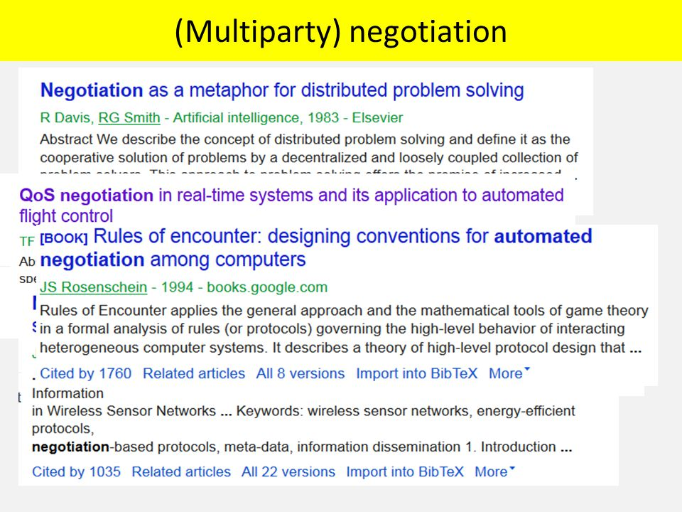 (Multiparty) negotiation