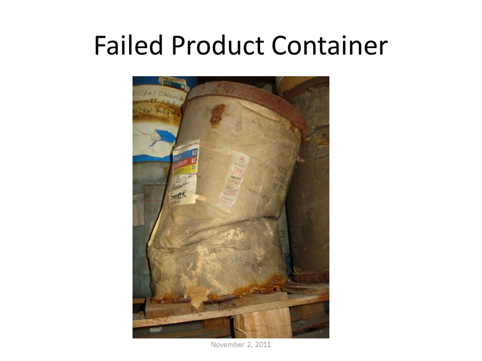 Failed Product Container November 2, 2011