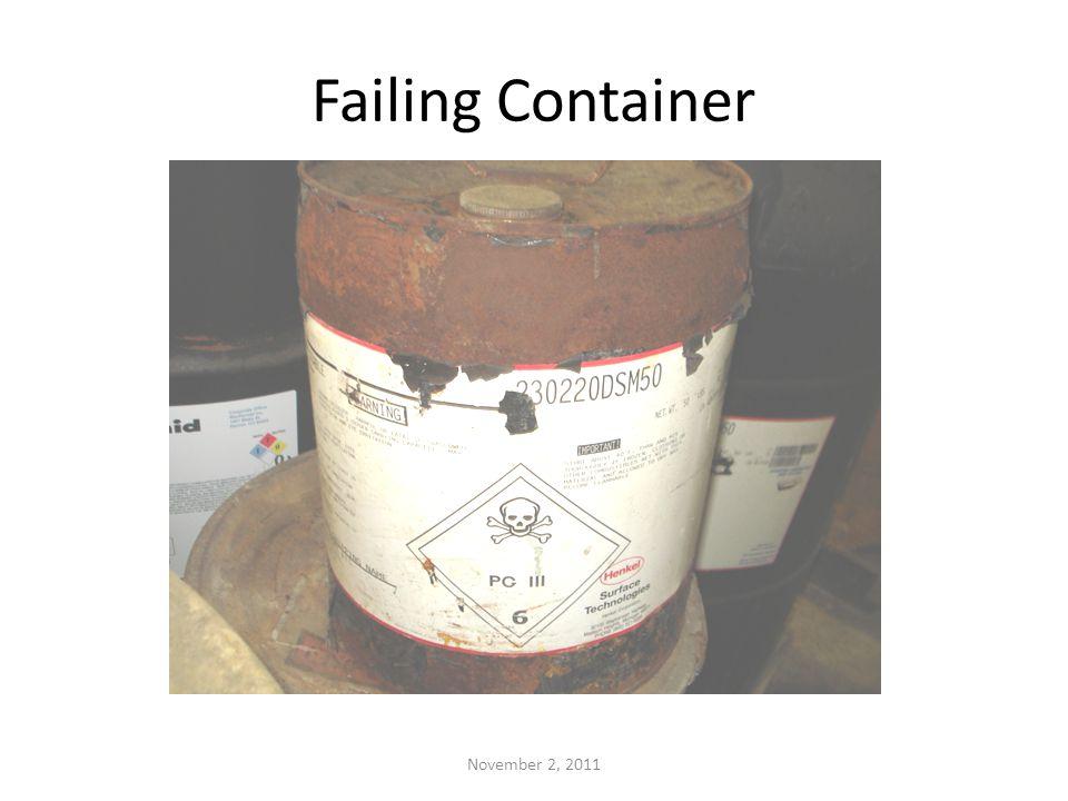 Failing Container November 2, 2011