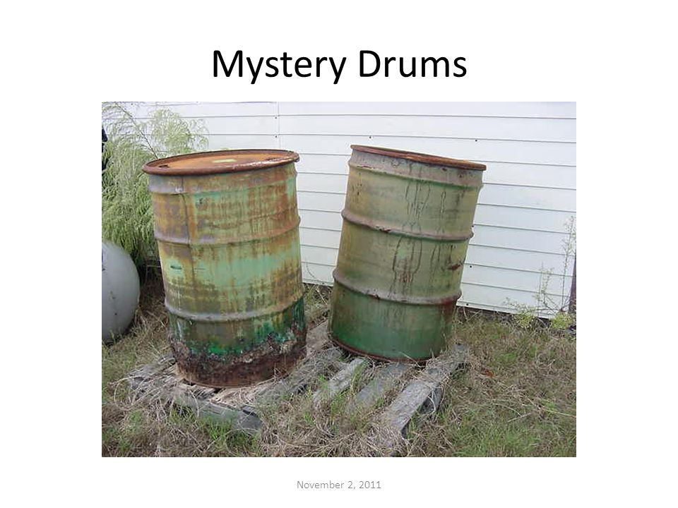 Mystery Drums November 2, 2011