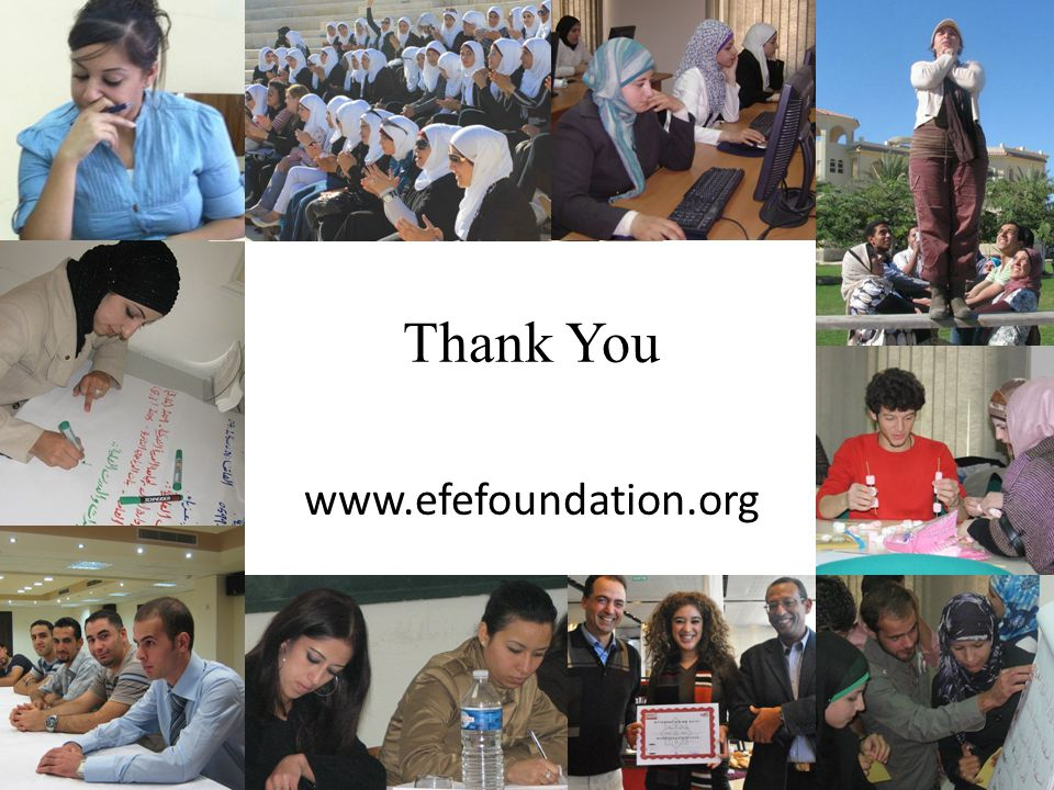 Thank You www.efefoundation.org