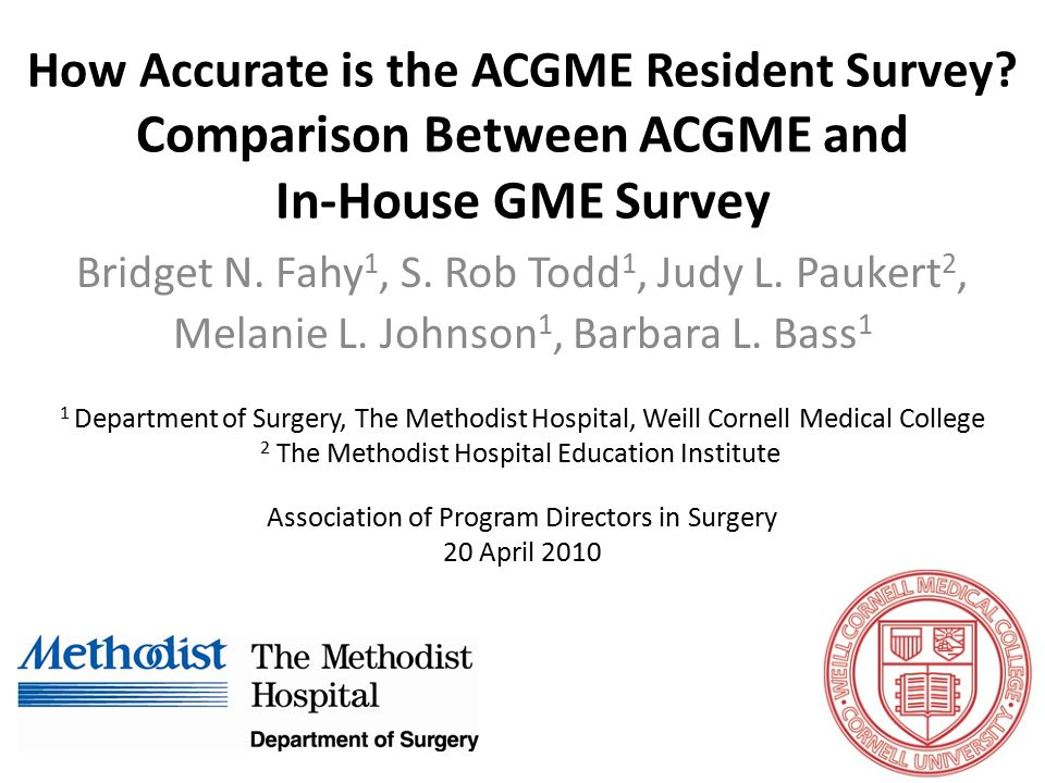 How Accurate is the ACGME Resident Survey.