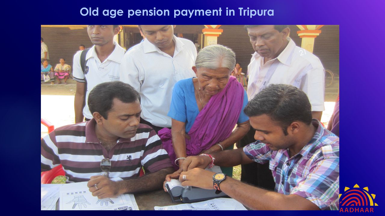Old age pension payment in Tripura 21