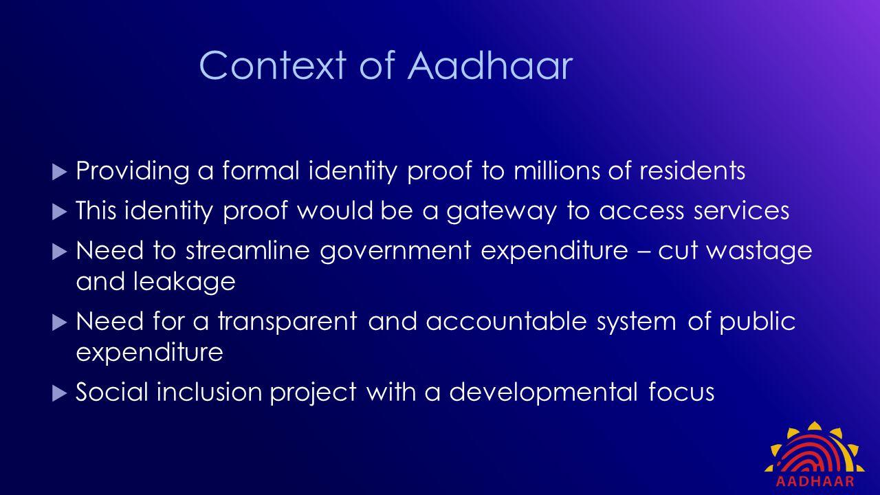 DIRECT BENEFIT TRANSFER AND AADHAAR