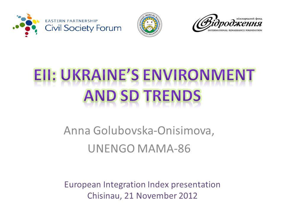 Anna Golubovska-Onisimova, UNENGO MAMA-86 European Integration Index presentation Chisinau, 21 November 2012