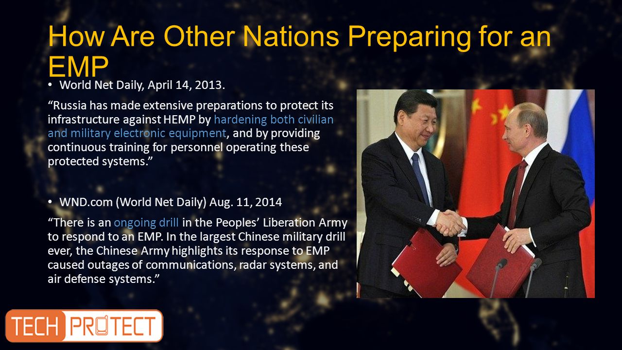 How Are Other Nations Preparing for an EMP World Net Daily, April 14, 2013.