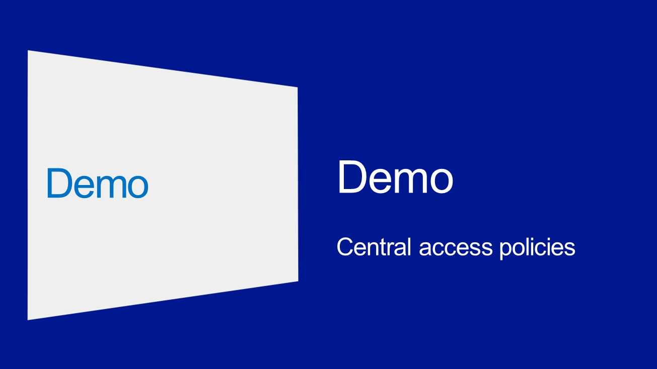 Central access policies Demo
