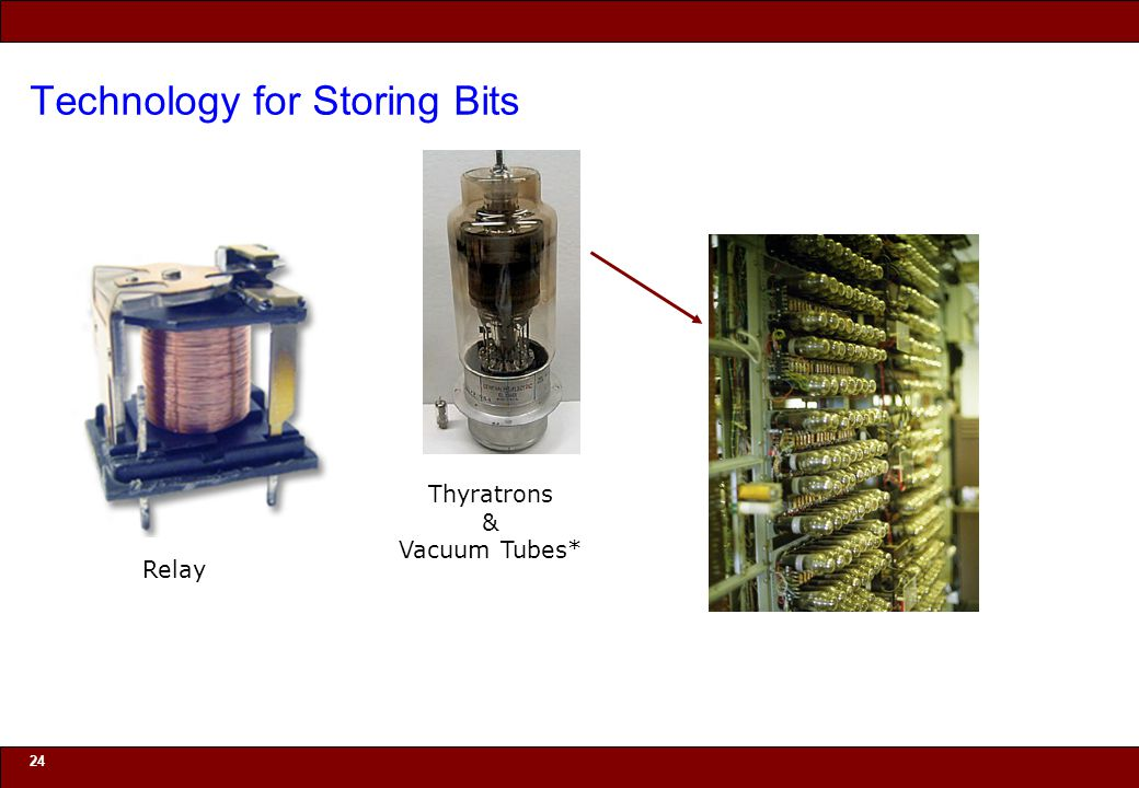 © 2010 Noah Mendelsohn Technology for Storing Bits 24 Relay Thyratrons & Vacuum Tubes*