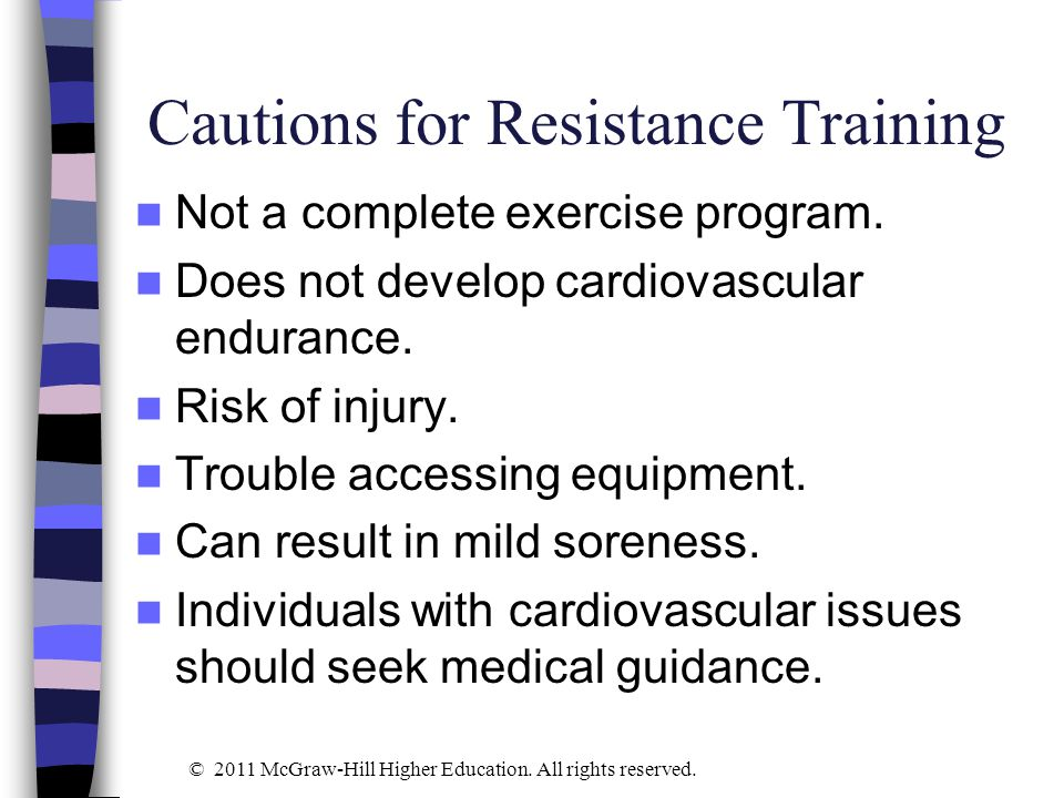 Study Question 2 What are the differences between training programs for strength and programs for muscular endurance.