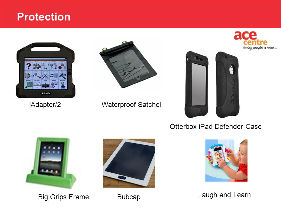 Protection Bubcap Otterbox iPad Defender Case iAdapter/2 Big Grips Frame Waterproof Satchel Laugh and Learn