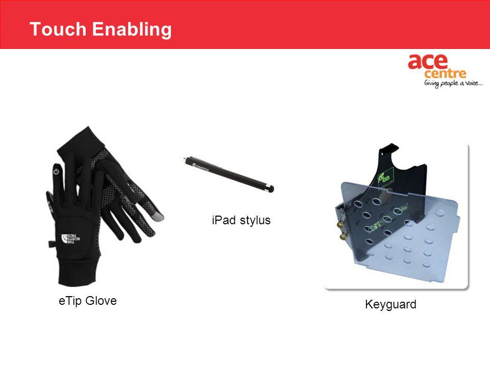 Touch Enabling iPad stylus eTip Glove Keyguard