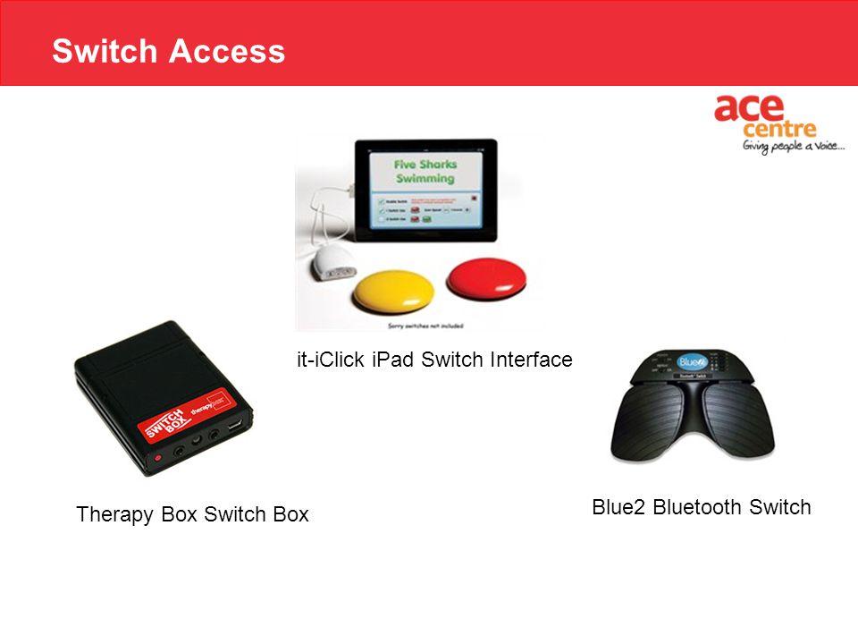Switch Access Blue2 Bluetooth Switch it-iClick iPad Switch Interface Therapy Box Switch Box