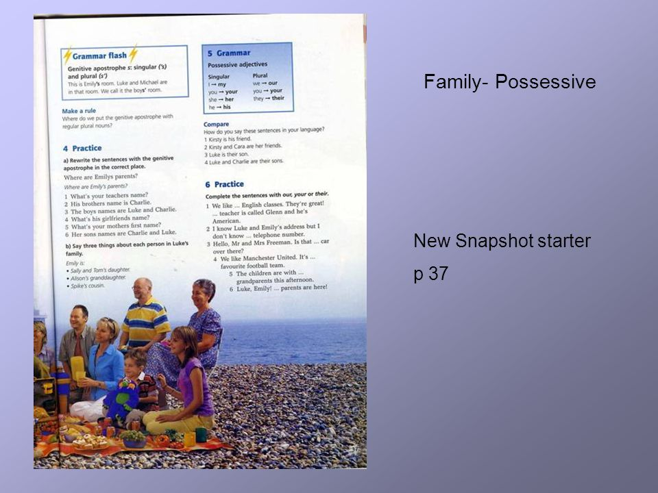 New Snapshot starter p 37 Family- Possessive