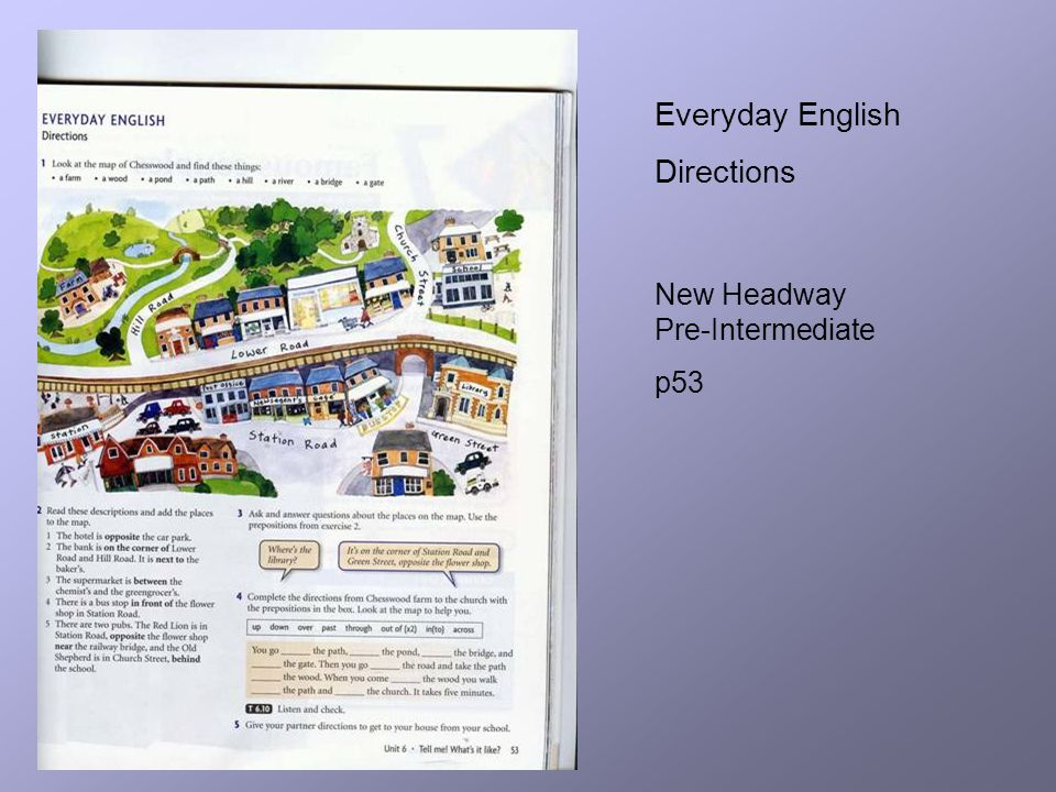 Everyday English Directions New Headway Pre-Intermediate p53